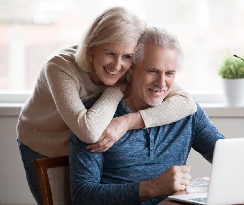 old couple on the computer